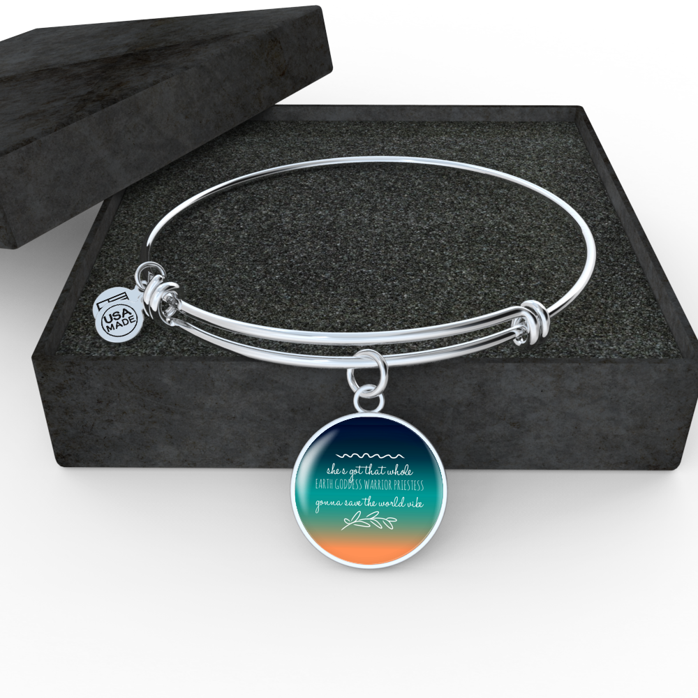"""Gonna save the world vibe."" Luxury Bangle / Necklace - Ombre"