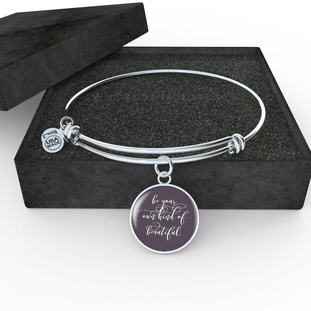 """Be your own kind of beautiful."" Luxury Bangle / Necklace - Purple"