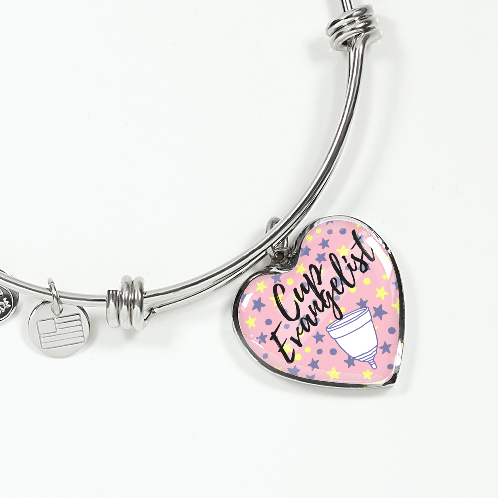 Cup Evangelist Luxury Bangle / Necklace - Pink Stars