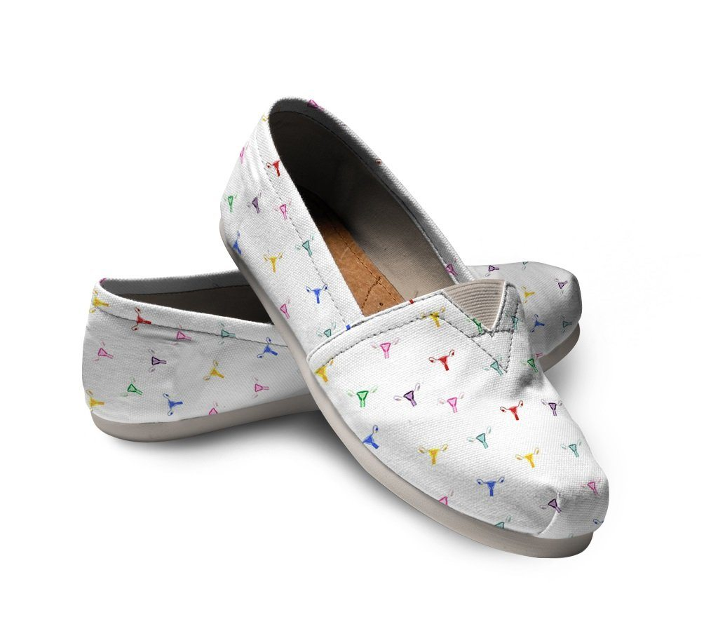 Rainbow Uterus Confetti Canvas Shoes