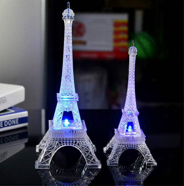 FREE! Exquisite, Warm, Romantic & Relaxing Color-Changing LED Eiffel Tower NightLight. The Most PERFECT Gift - Just So Unique & Beautiful!! 13cm Size FREE For Limited Time!