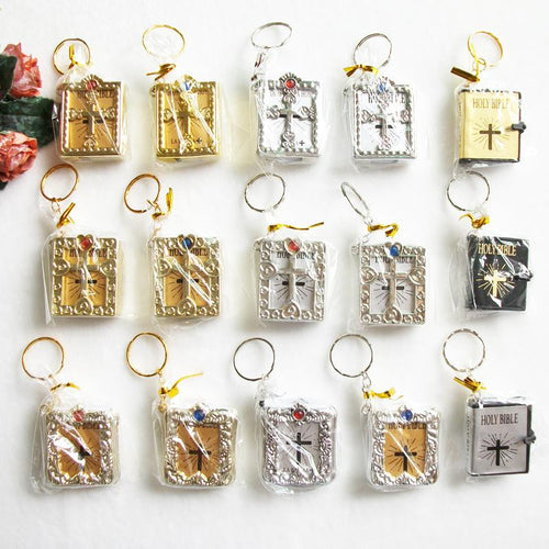 CHRISTIAN KEYCHAIN AMAZING ENGLISH VERSION MINI CHRISTIAN CROSS BIBLE SOUVENIRS FREE SHIPPING USA