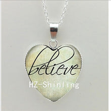 "BELIEVE HOPE HEART PENDANT NECKLACE (""PLUS ADDITIONAL HOPE WORD"") PENDANTS"