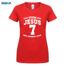"CHRISTIAN T SHIRTS  WOMEN ""TEAM JESUS 7"" ""SOUL WINNING TEAM"" BRAVO"