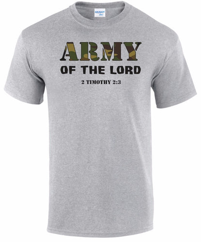 ARMY OF THE LORD 2 TIMOTHY 2:3 CHRISTIAN T SHIRT