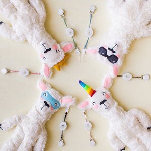 COMBO DEAL:  Little Bae Llama Lovey & Matching Retractaclip - Little BaeBae