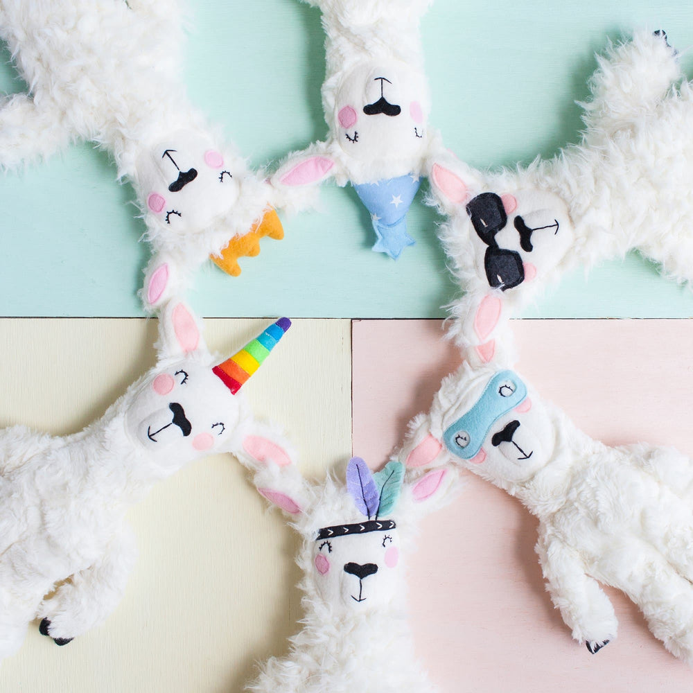 Load image into Gallery viewer, Super Sawyer - Handmade Llama Plushie - Little BaeBae