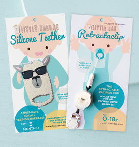 COMBO DEAL: New! Retractaclip & Teether Set - Little BaeBae