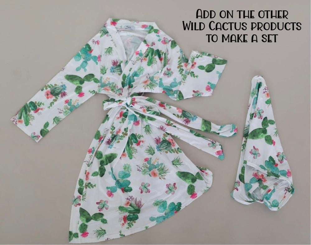 Wild Cactus Baby Gown + Bow - Little BaeBae