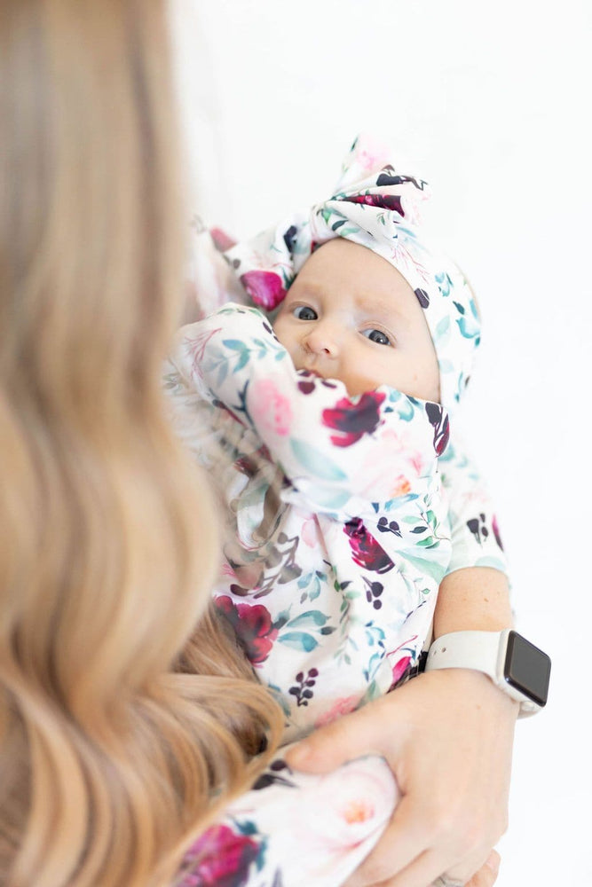 Brooke Baby Gown + Bow - Little BaeBae