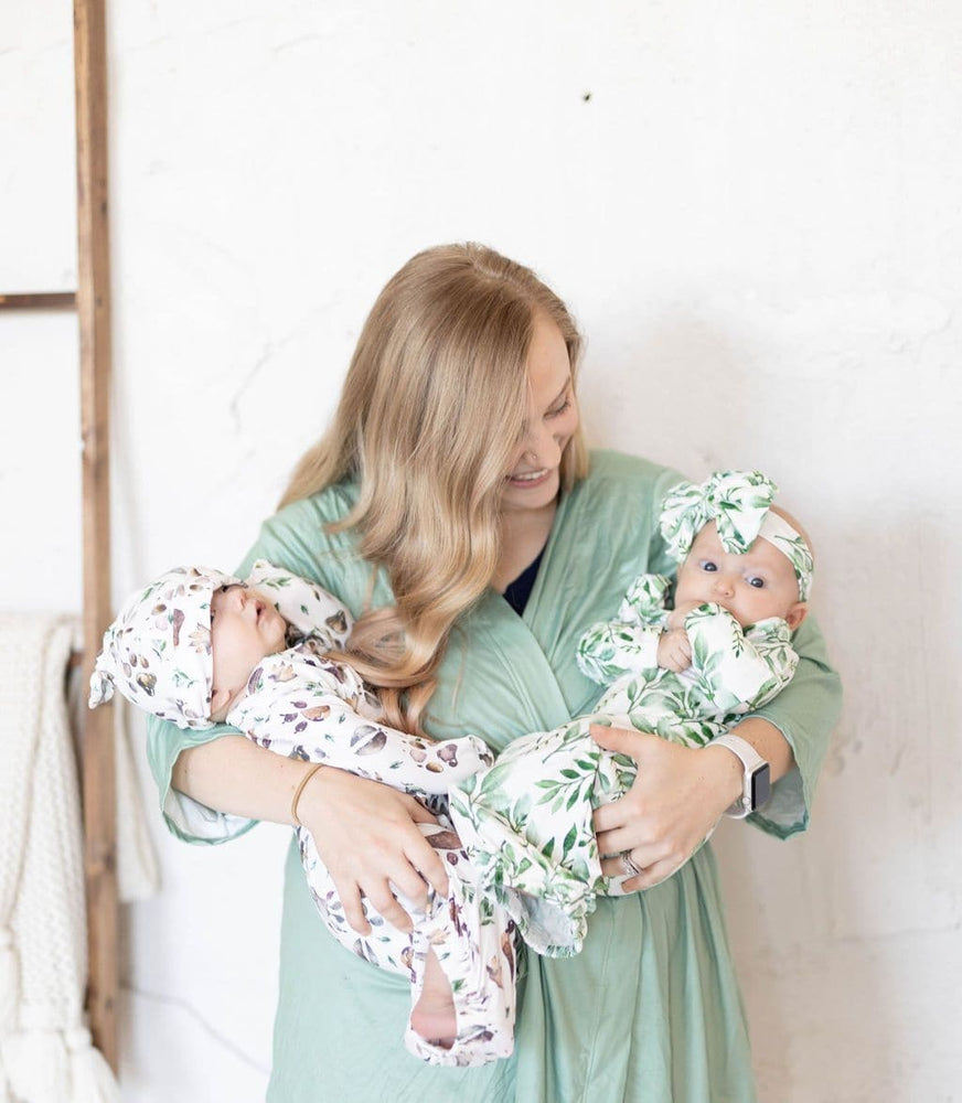 Load image into Gallery viewer, Sage Green Mom Robe - Little BaeBae