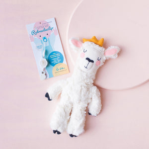 COMBO DEAL:  Little Bae Llama Lovey & Matching Retractaclip