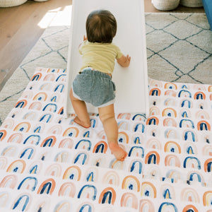Load image into Gallery viewer, Rainbow Watercolor | Mega | Padded Play Mat - Little BaeBae