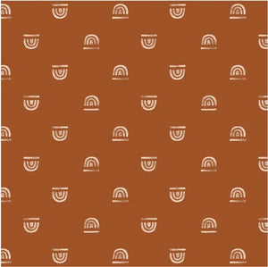 Rainbow Stamp in Rust | Mega | Padded Play Mat - Little BaeBae