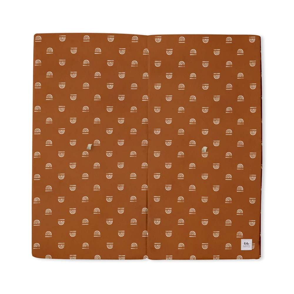 Rainbow Stamp in Rust | Standard | Padded Play Mat - Little BaeBae