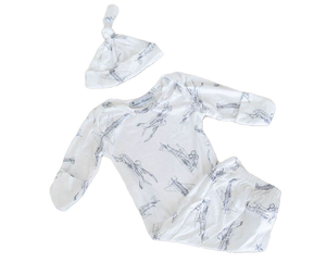 Load image into Gallery viewer, Austin Baby Gown + Cap - Little BaeBae