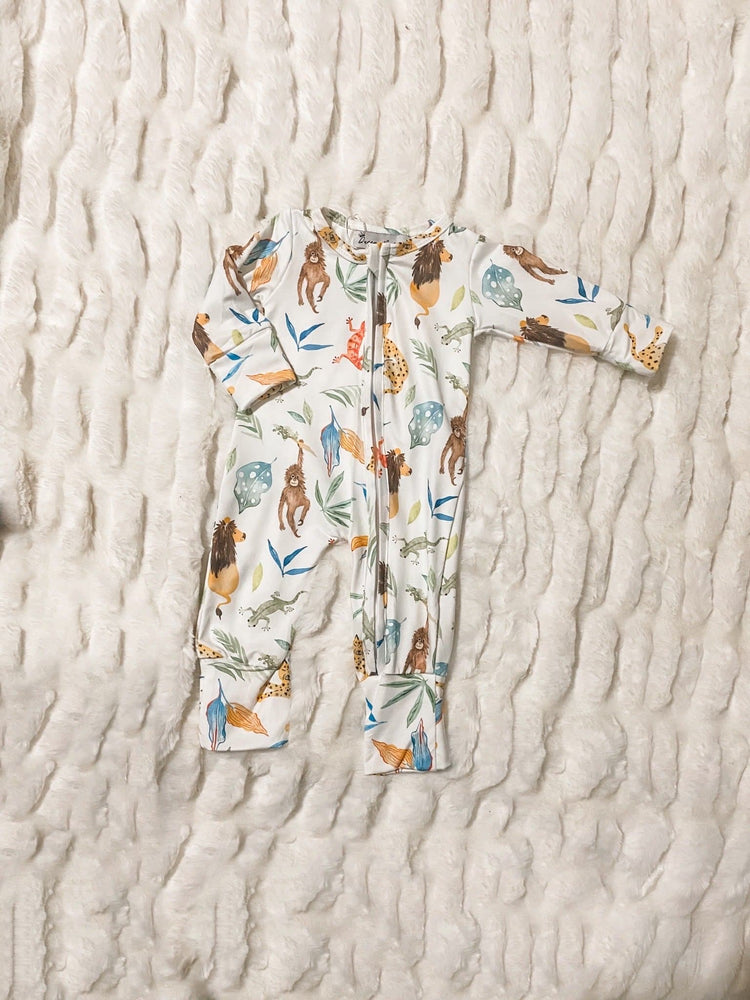 Jungle Zippie Onesie - Little BaeBae
