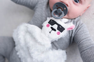 NEW! Pacifier/Teether PlushieClips (plushie security blanket + pacifier clip) - Little BaeBae