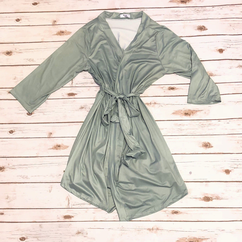 Sage Green Mom Robe - Little BaeBae
