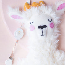 Load image into Gallery viewer, COMBO DEAL:  Little Bae Llama Lovey & Matching Retractaclip