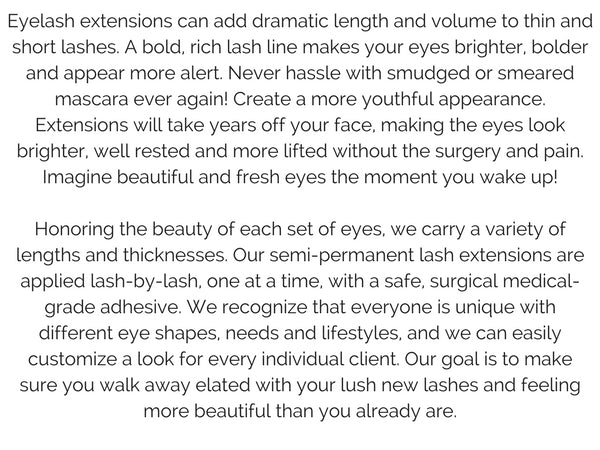 lash extension information