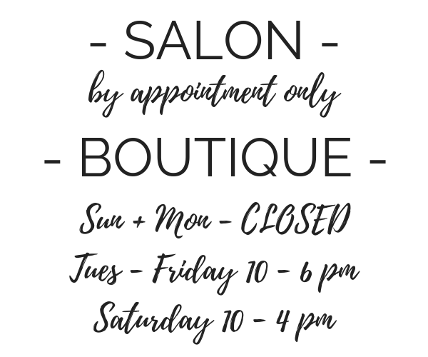 salon hours of operation