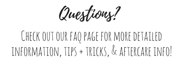 questions faq more info