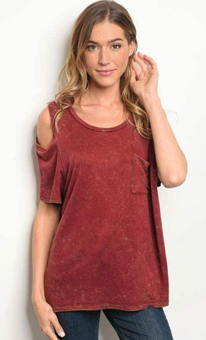Lexa Cold Shoulder Tee - Eye Candy Beauty + Boutique