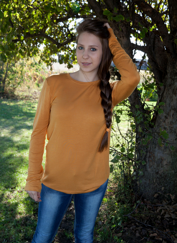 Ashley Long Sleeve Tee - Eye Candy Beauty + Boutique