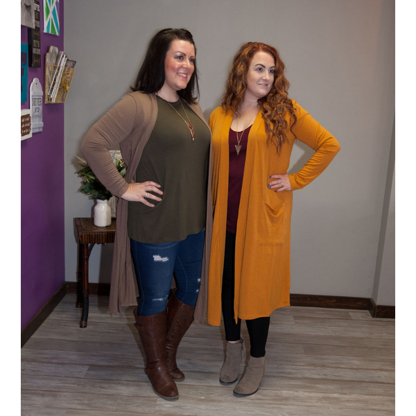 Carissa Slouchy Cardigan w/ Pockets - Eye Candy Beauty + Boutique