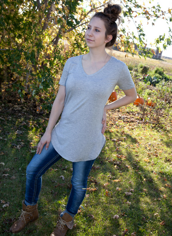 Faith V Neck Tee - Eye Candy Beauty + Boutique