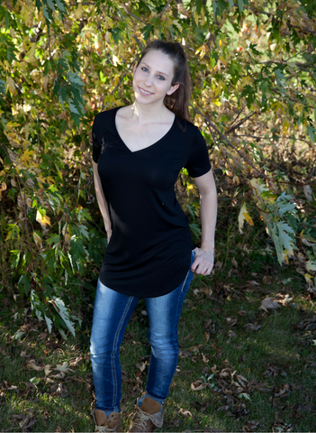 Julia V-Neck Tee - Eye Candy Beauty + Boutique