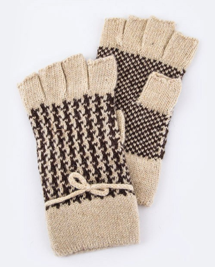 Houndstooth Fingerless Gloves - Eye Candy Beauty + Boutique