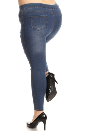 Peyton Distressed Jegging - Eye Candy Beauty + Boutique