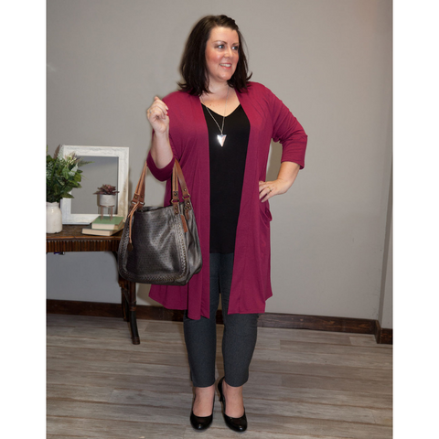 Stacia Slouchy Cardigan w/ Pockets - Eye Candy Beauty + Boutique