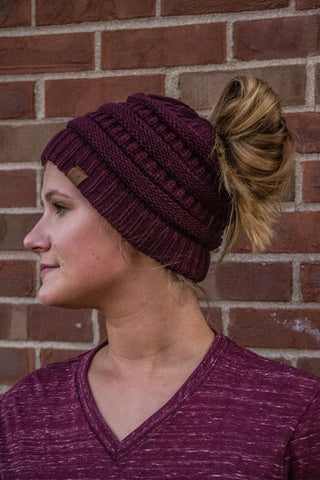 Ponytail Beanie - Eye Candy Beauty + Boutique