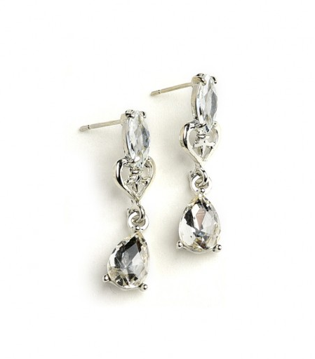 Double Stone Drop Earrings - Eye Candy Beauty + Boutique
