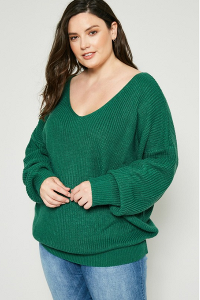 Josephine Twist-Back Sweater - Eye Candy Beauty + Boutique