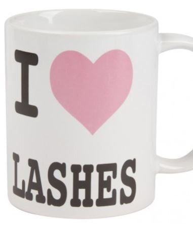 I Love Lashes Mug - Eye Candy Beauty + Boutique