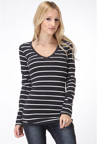 Lilly Striped Longsleeve - Eye Candy Beauty + Boutique