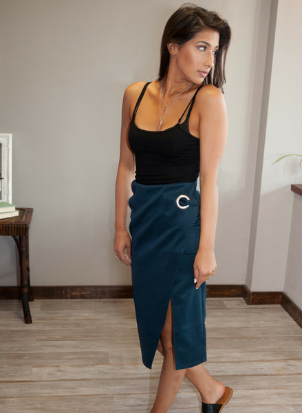 Midi Pencil Skirt - Eye Candy Beauty + Boutique