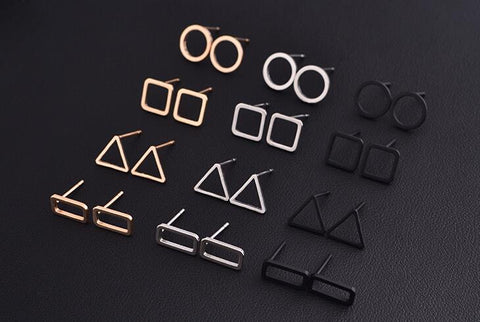 Basic Shaped Stud Earrings - Eye Candy Beauty + Boutique