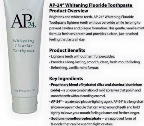 AP 24® Whitening Fluoride Toothpaste - Eye Candy Beauty + Boutique