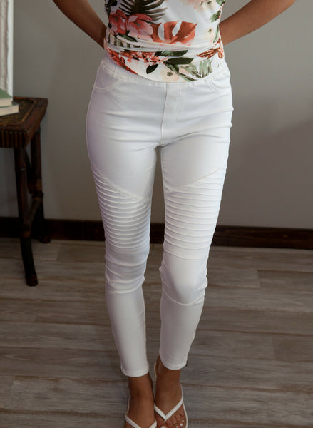Spring in the Air Moto Jegging - Eye Candy Beauty + Boutique