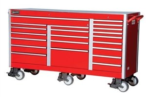 Williams 50990 73-Inch Heavy Industrial 73-Inch Roll Cabinet, Red