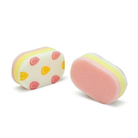 Happy Kitchen Sponge-pink 4pcs (2 Packs of 2pcs/pack)