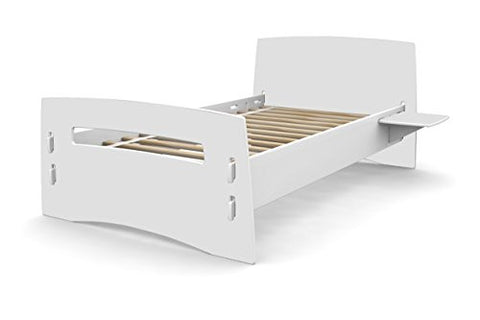 Legaré Kids Furniture Classic Collection Series, No Tools Assembly Twin Bed, White