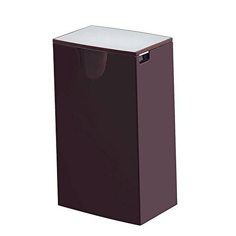 Creative Mini Table Trash Can Car Small Trash Bins Office Table Waste Container with Lid (Coffee)