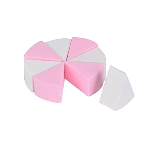 Outtop Makeup Blender Sponge, Beauty Wedges Flawless Foundation Puff Round Shape Random Color (8 Piece_C)