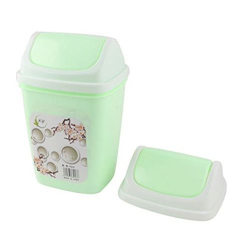 uxcell Plastic Home Office Desktop Garbage Rubbish Waste Holder Container Case Bin Light Green